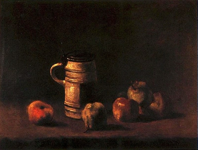 Still Life with Beer Mug and Fruit. Vincent van Gogh