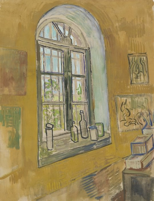 Window in the Studio. Vincent van Gogh