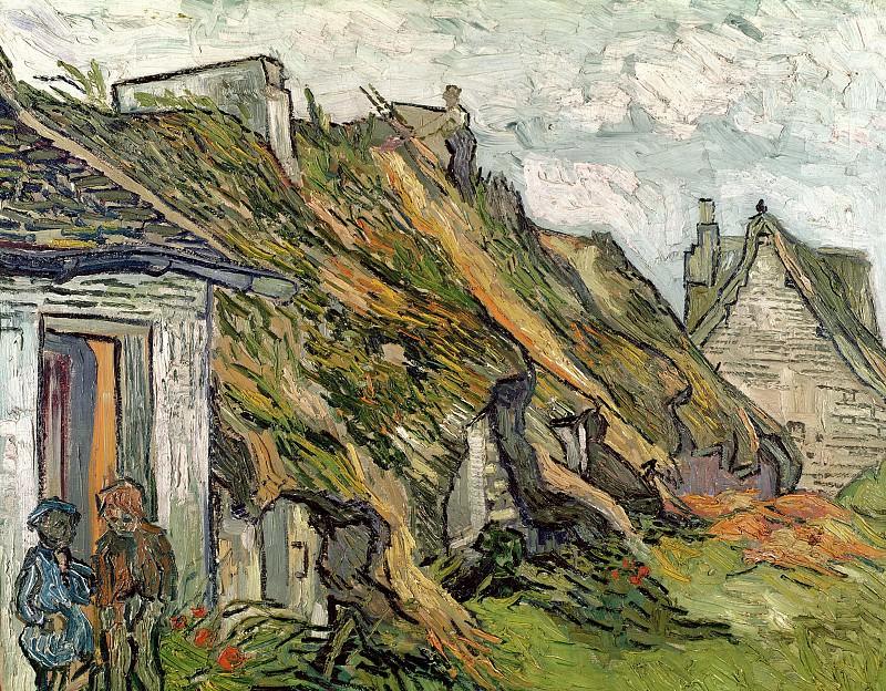 Old Cottages, Chaponval. Vincent van Gogh