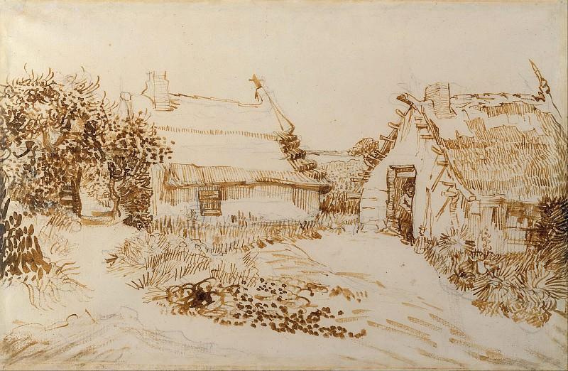 Two Cottages at Saintes-Maries. Vincent van Gogh
