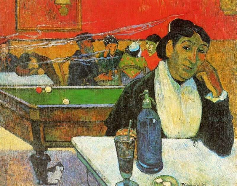 NIght Cafe in Arles (Madame Ginoux). Vincent van Gogh