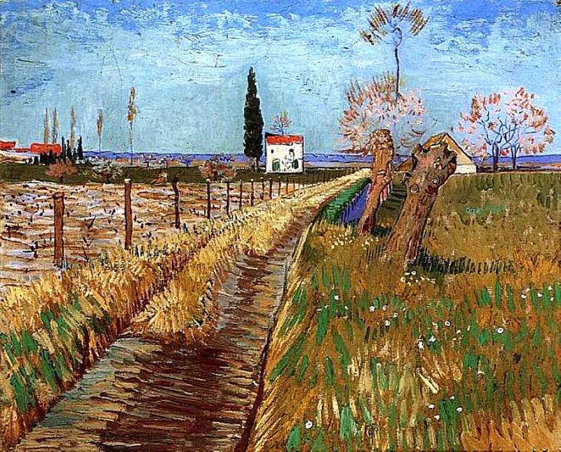 Path Through a Field with Willows. Vincent van Gogh