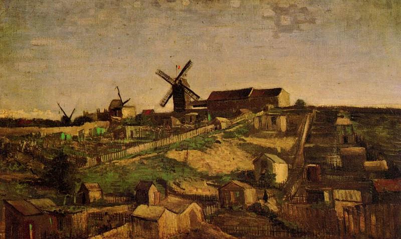 View of Montmartre with Windmills. Vincent van Gogh