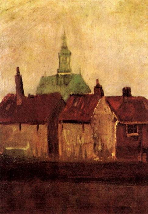Old Houses with the New Church in The Hague. Vincent van Gogh