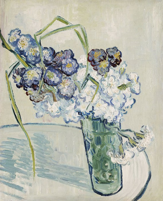 Glass with Carnations. Vincent van Gogh