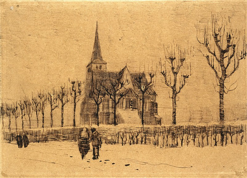 Landscape with a Church. Vincent van Gogh