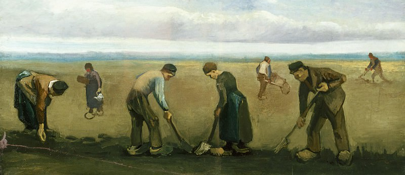 Farmers Planting Potatoes. Vincent van Gogh