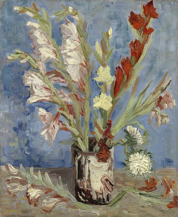 Vase with Gladioli. Vincent van Gogh