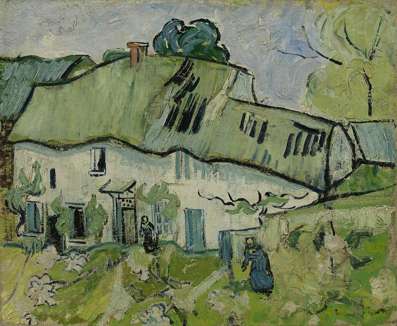 Farmhouse with Two Figures. Vincent van Gogh