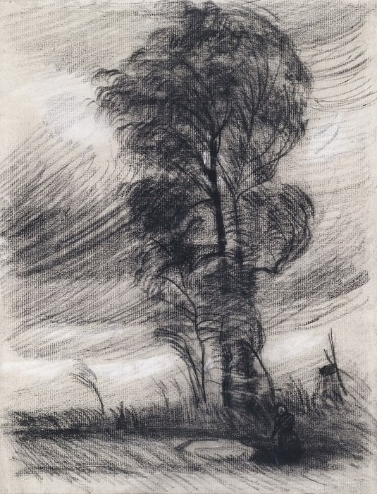 Landscape in Stormy Weather. Vincent van Gogh