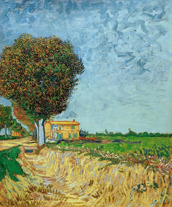 A Lane near Arles. Vincent van Gogh