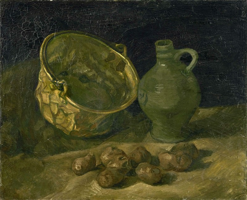 Still-Life with Brass Cauldron and Jug. Vincent van Gogh