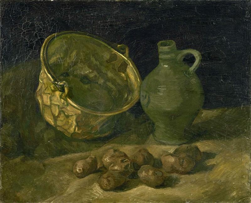 Натюрморт с латунным котелком и кувшином. Винсент Ван Гог