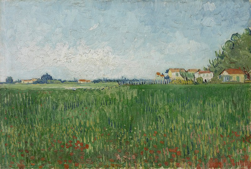 Field with Poppies Near Arles. Vincent van Gogh