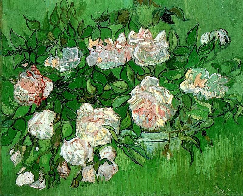 Pink Roses. Vincent van Gogh