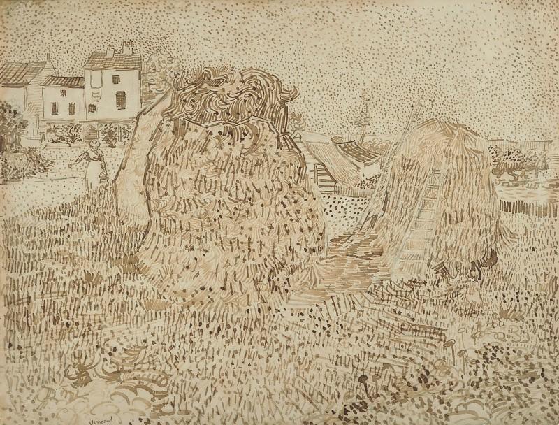 Haystacks. Vincent van Gogh