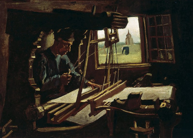 Weaver near an Open Window. Vincent van Gogh