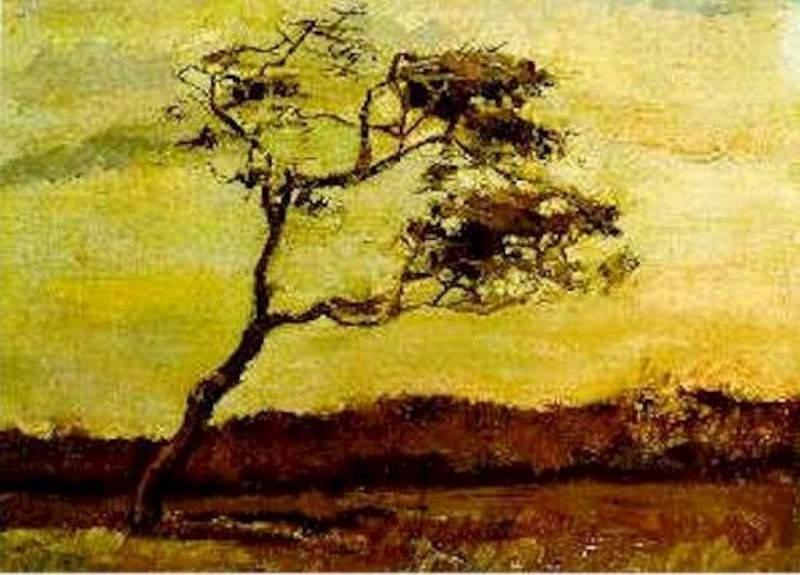 A Wind-Beaten Tree. Vincent van Gogh