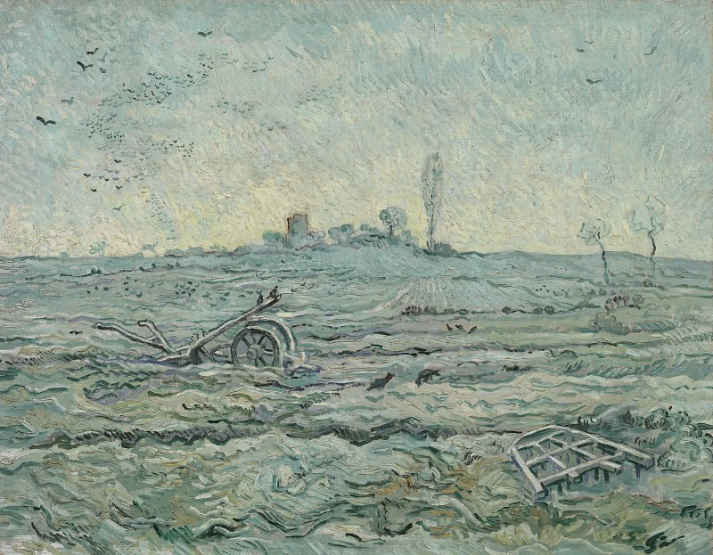 The Plough and the Harrow (after Millet). Vincent van Gogh