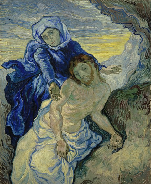 Pieta after Delacroix. Vincent van Gogh