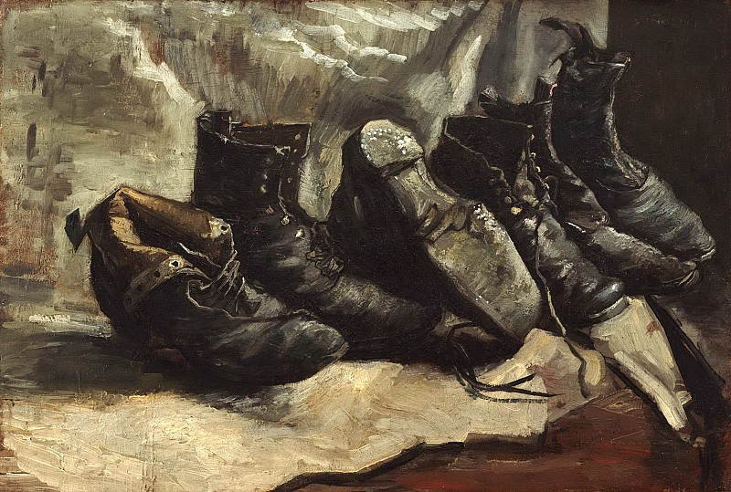 Three Pairs of Shoes. Vincent van Gogh