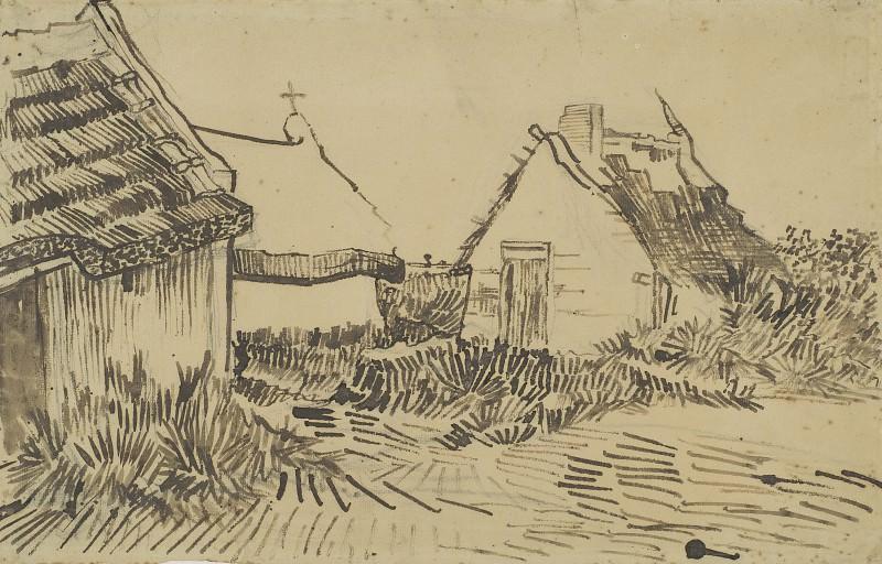 Houses in Les Saintes-Maries. Vincent van Gogh