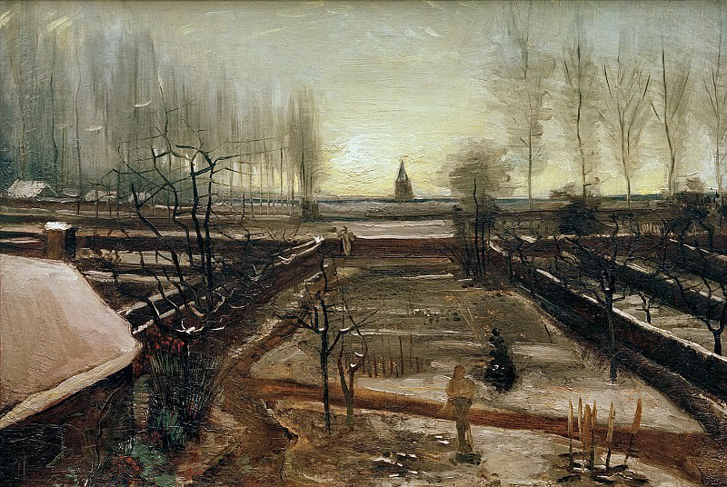 The Parsonage Garden at Nuenen in the Snow. Vincent van Gogh