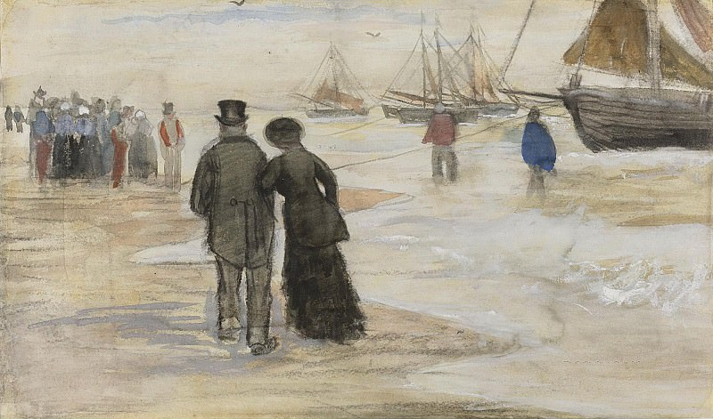 THE BEACH AT SCHEVENINGEN. Vincent van Gogh