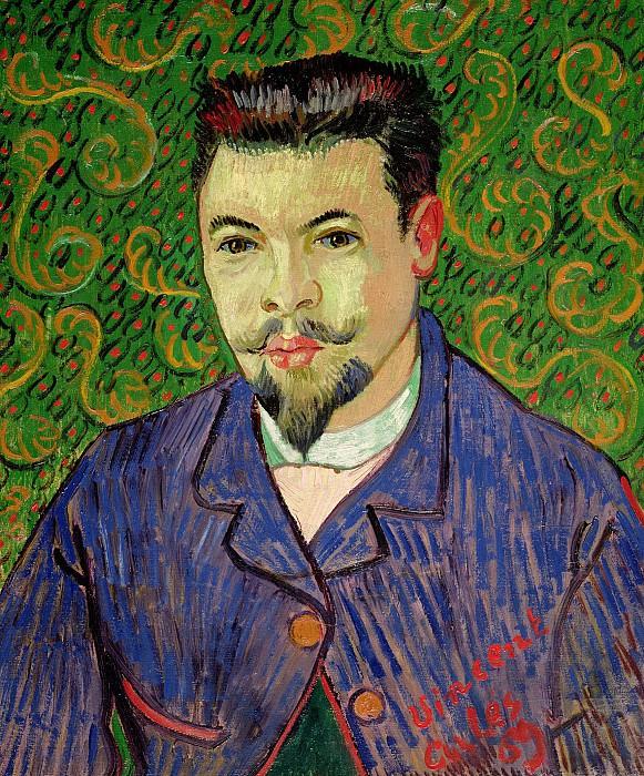 Portrait of Doctor Felix Rey. Vincent van Gogh