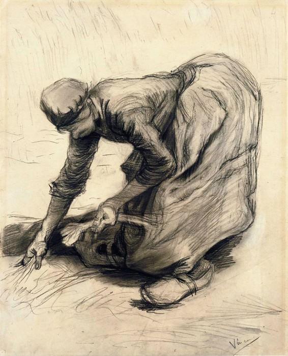 Peasant Woman Gleaning. Vincent van Gogh