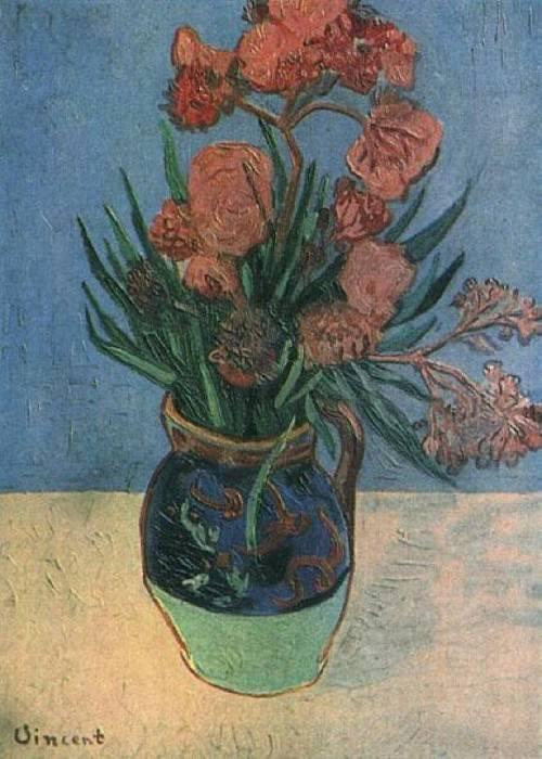 Vase with Oleanders. Vincent van Gogh