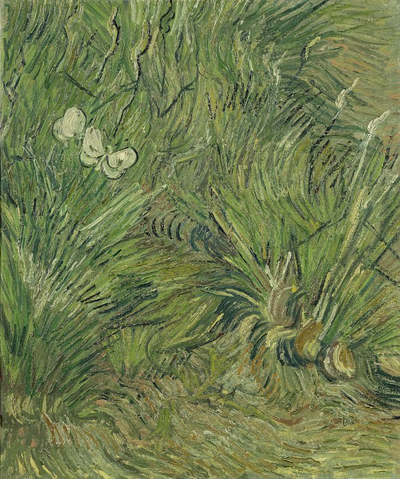 Garden with Butterflies. Vincent van Gogh