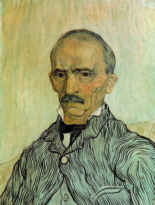 Portrait of Trabuc, an Attendant at Saint-Paul Hospital. Vincent van Gogh