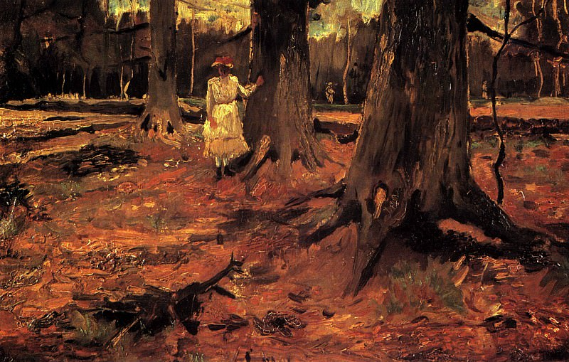 Girl in White in the Woods. Vincent van Gogh