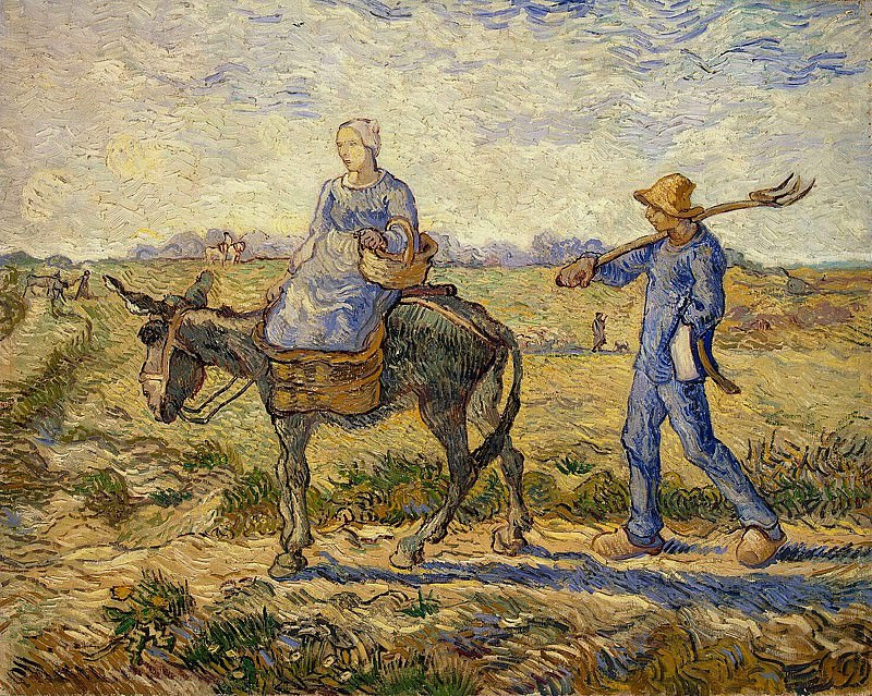 Morning - Peasants Going to Work. Vincent van Gogh