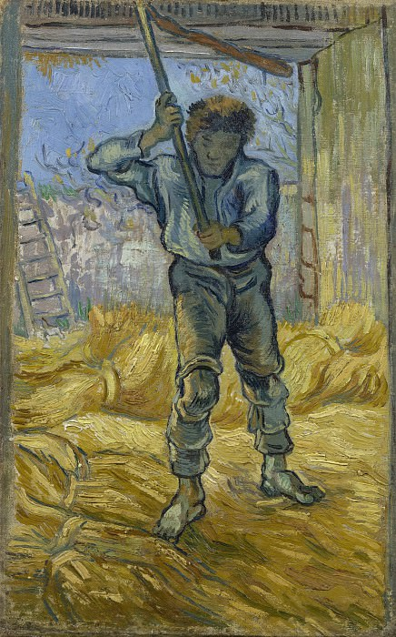 The Thresher (after Millet). Vincent van Gogh