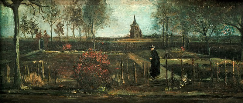 Parish garden in Nuenen, Spring. Vincent van Gogh