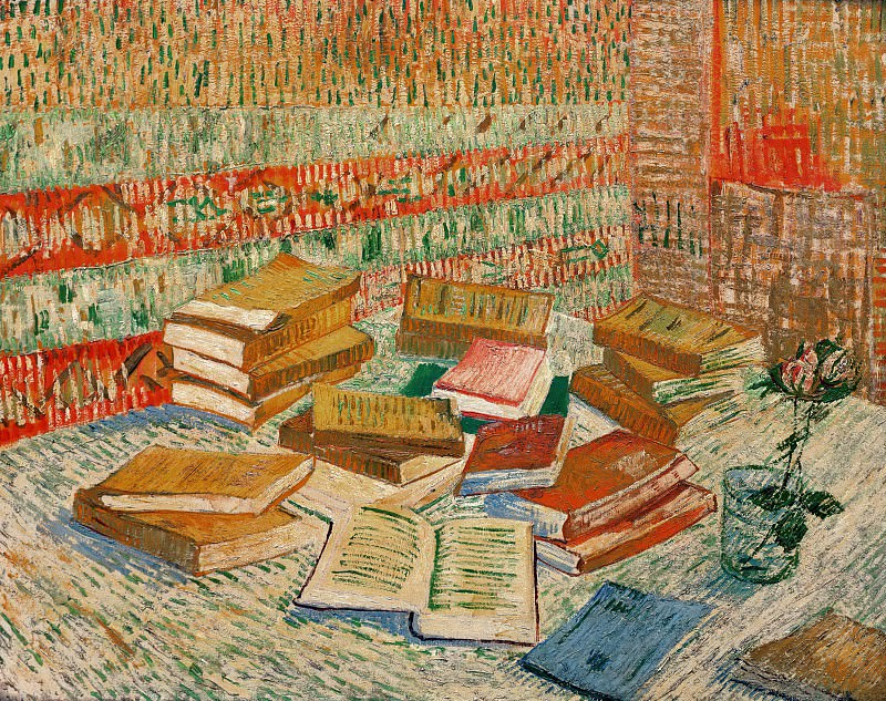 Still Life - French Novels and Rose. Vincent van Gogh