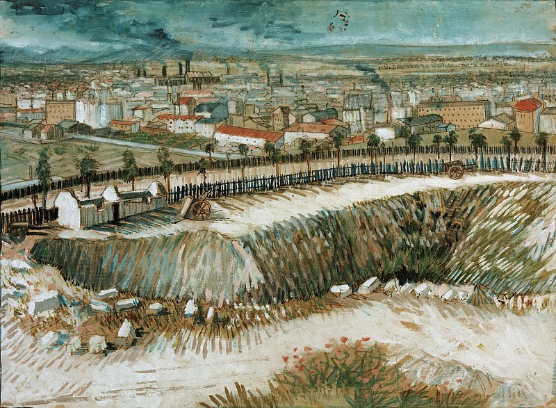 Industrial landscape – on the outskirts of Paris near Montmartre. Vincent van Gogh