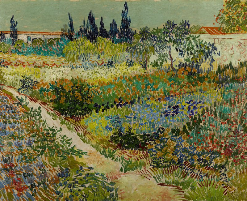 Flowering Garden with Path. Vincent van Gogh