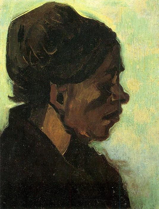 Head of a Brabant Peasant Woman. Vincent van Gogh