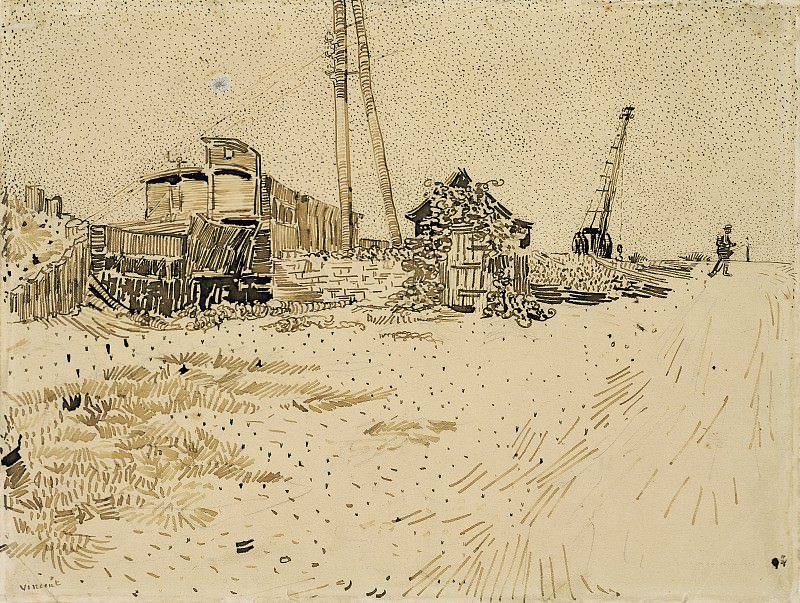 Railway Storage Yard. Vincent van Gogh