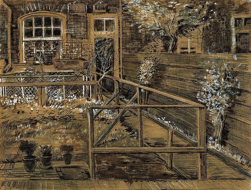 Back Garden of Siens Mothers House, the Hague. Vincent van Gogh