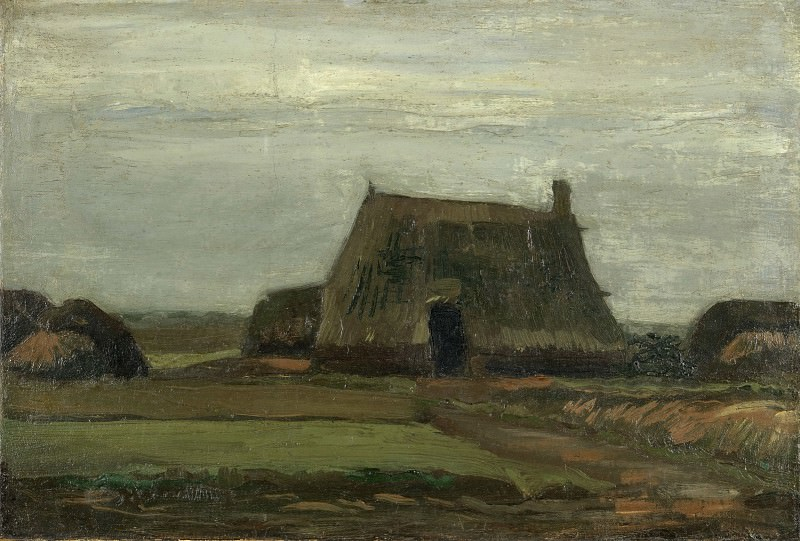 Farm with Stacks of Peat. Vincent van Gogh