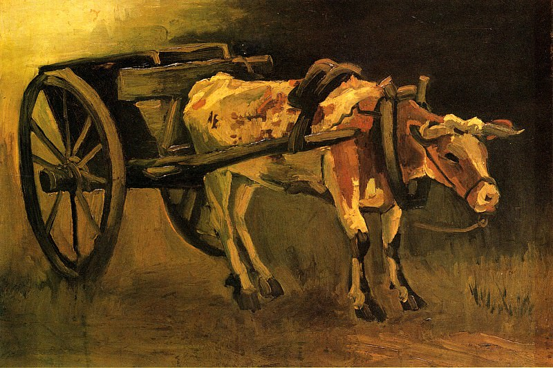 Cart with Ox. Vincent van Gogh