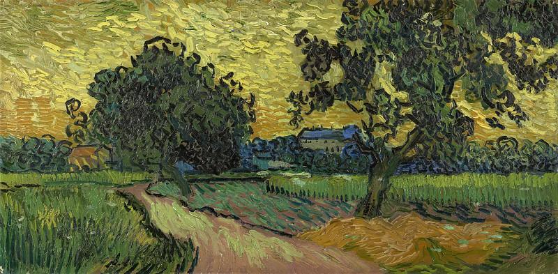Landscape at Twilight. Vincent van Gogh