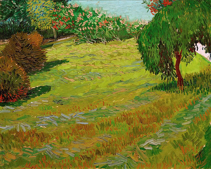 Sunny Lawn in a Public Park. Vincent van Gogh