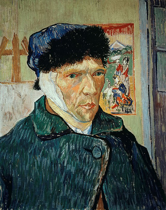 Self-Portpait with Bandaged Ear. Vincent van Gogh