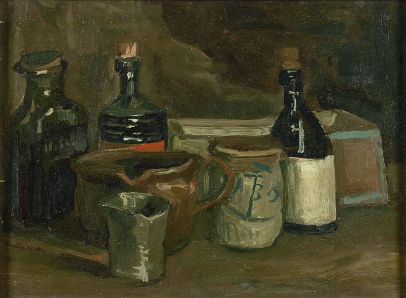 Still-Life with Bottles and Earthenware. Vincent van Gogh