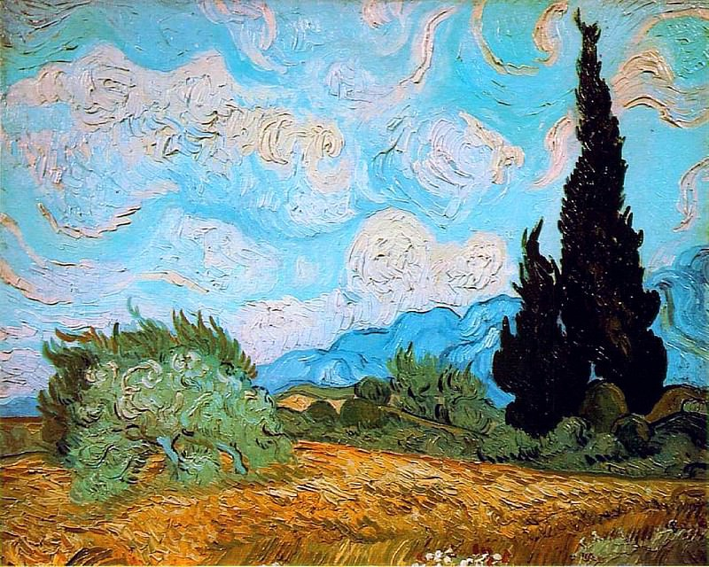 Wheat Field with Cypresses. Vincent van Gogh